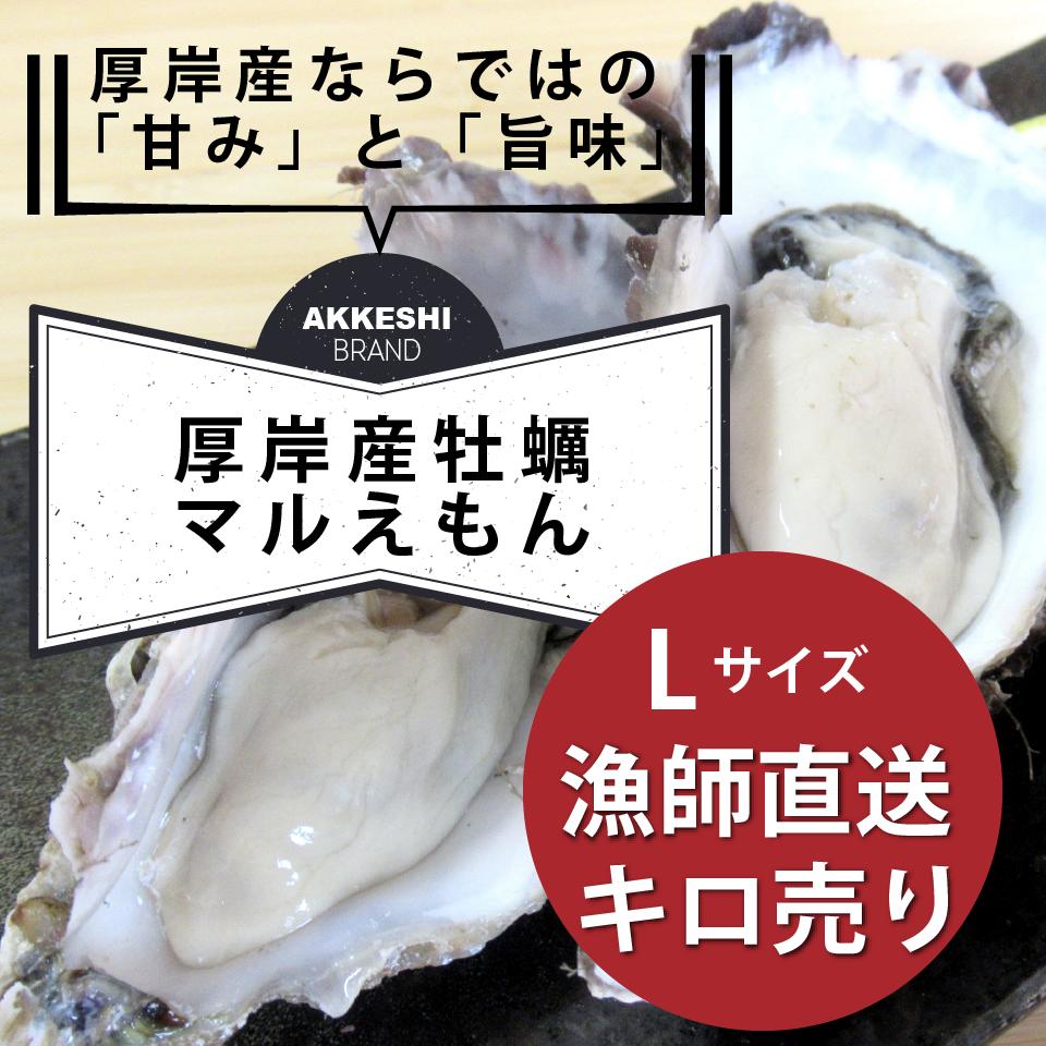 生牡蠣マルえもん Lサイズ殻付きキロ売り